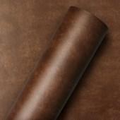 Adesivo Decorativo de Couro Marrom Espresso Mania Decor  61cm x 5m