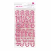 Adesivos Alfabeto E Numeral Regards Pink