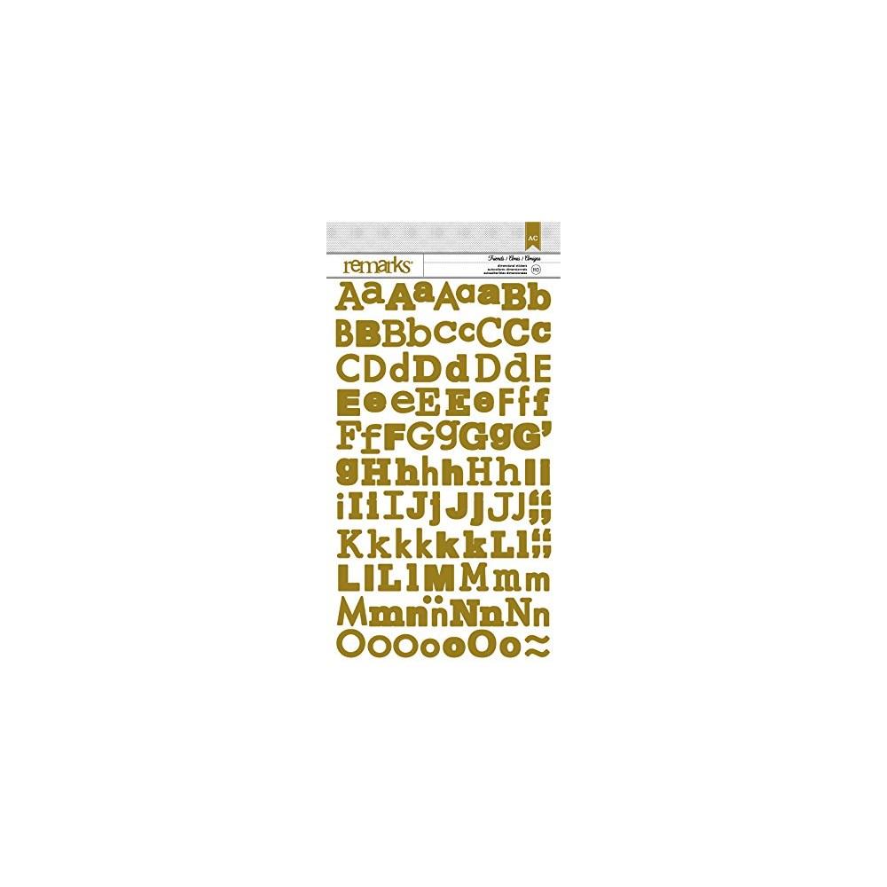 Adesivos Basics Glitter Dourado