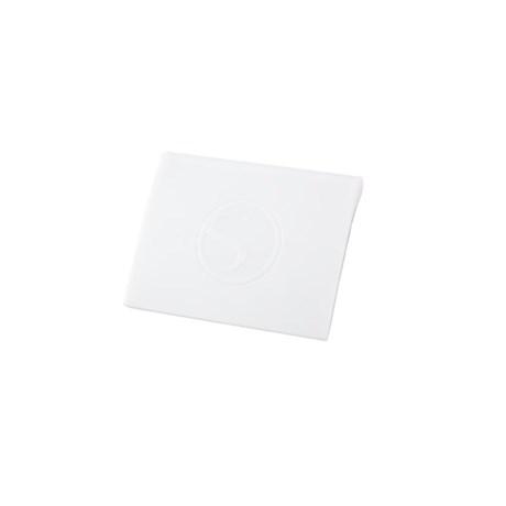 Aplicador Espátula Silhouette em Plástico Resistente 60X45mm 01 Unid. Branca Scraper