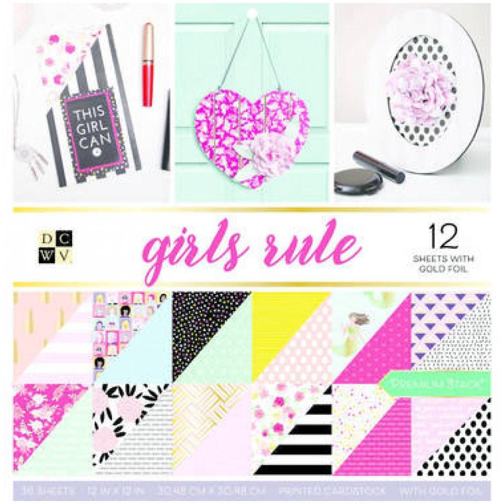 Bloco de Papéis Scrap 30X30 Girls Rule