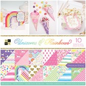 BLOCO DE PAPEIS SCRAP 30X30 UNICORDS / RAINBOWS