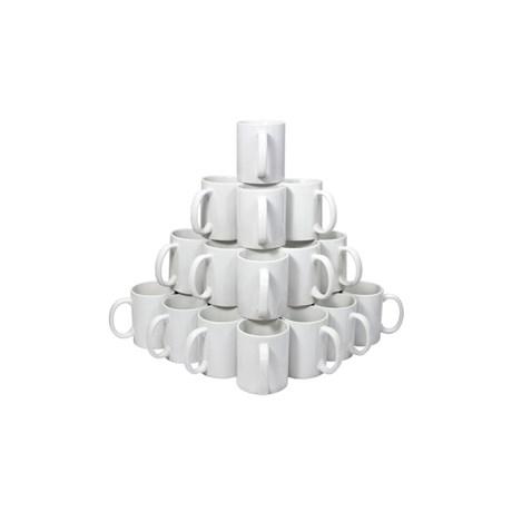 Caneca De Cerâmica Branca P/ Sublimação Serilon Caixa com 36 unidade