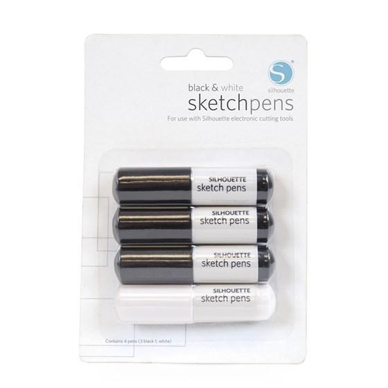 Conjunto de Canetas Silhouette Preto E Branco Sketch Pen