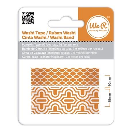 Fita Adesiva Decorativa Washi Tape WER Abóbora 2 Rolos 15,8 M Wrwt 424178