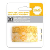 Fita Adesiva Decorativa Washi Tape WER Amarela 2 Rolos 15,8 M Wrwt 422006