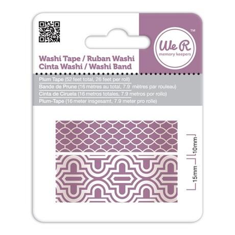 Fita Adesiva Decorativa Washi Tape WER Ameixa 2 Rolos 15,8 M Wrwt 42422