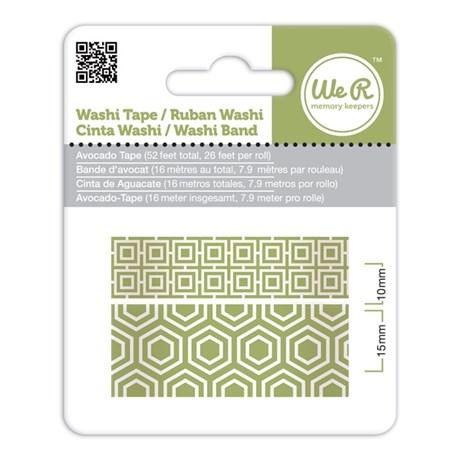Fita Adesiva Decorativa Washi Tape WER Avocado 2 Rolos 15,8 M Wrwt 424192
