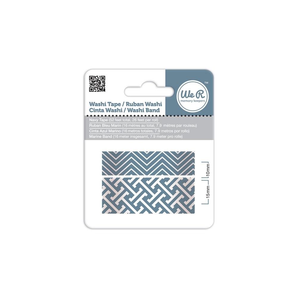 Fita Adesiva Decorativa Washi Tape WER Azul Navy 2 Rolos 15,8 M Wrwt 424215