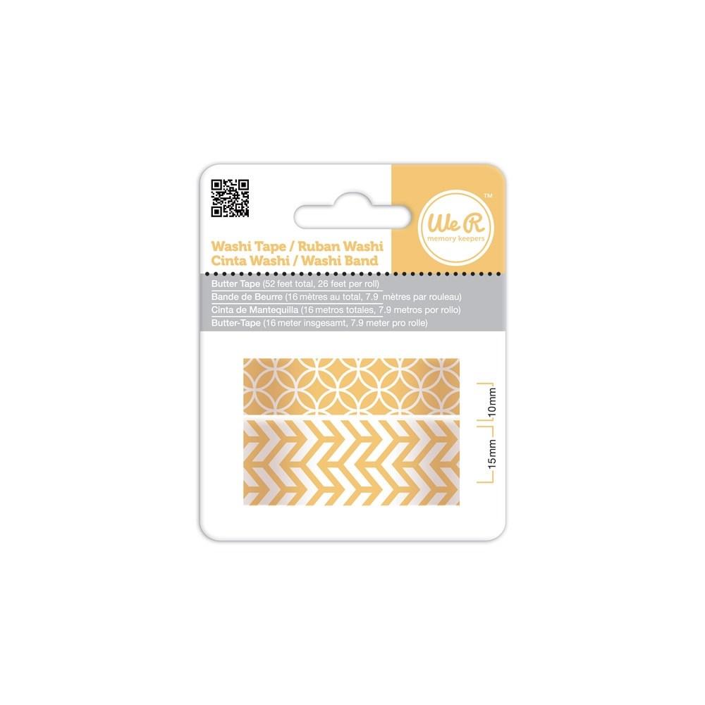 Fita Adesiva Decorativa Washi Tape WER Manteiga 2 Rolos 15,8 M Wrwt 424185