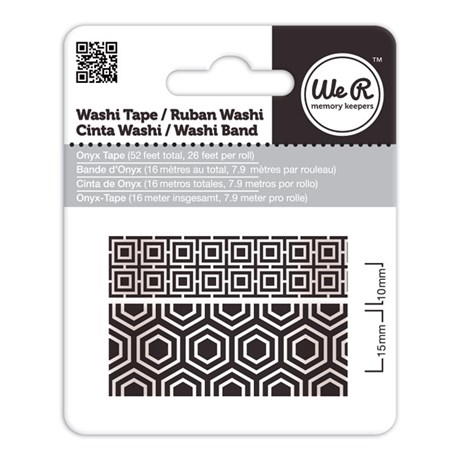 Fita Adesiva Decorativa Washi Tape WER Onyx 2 Rolos 15,8 M Wrwt 424246