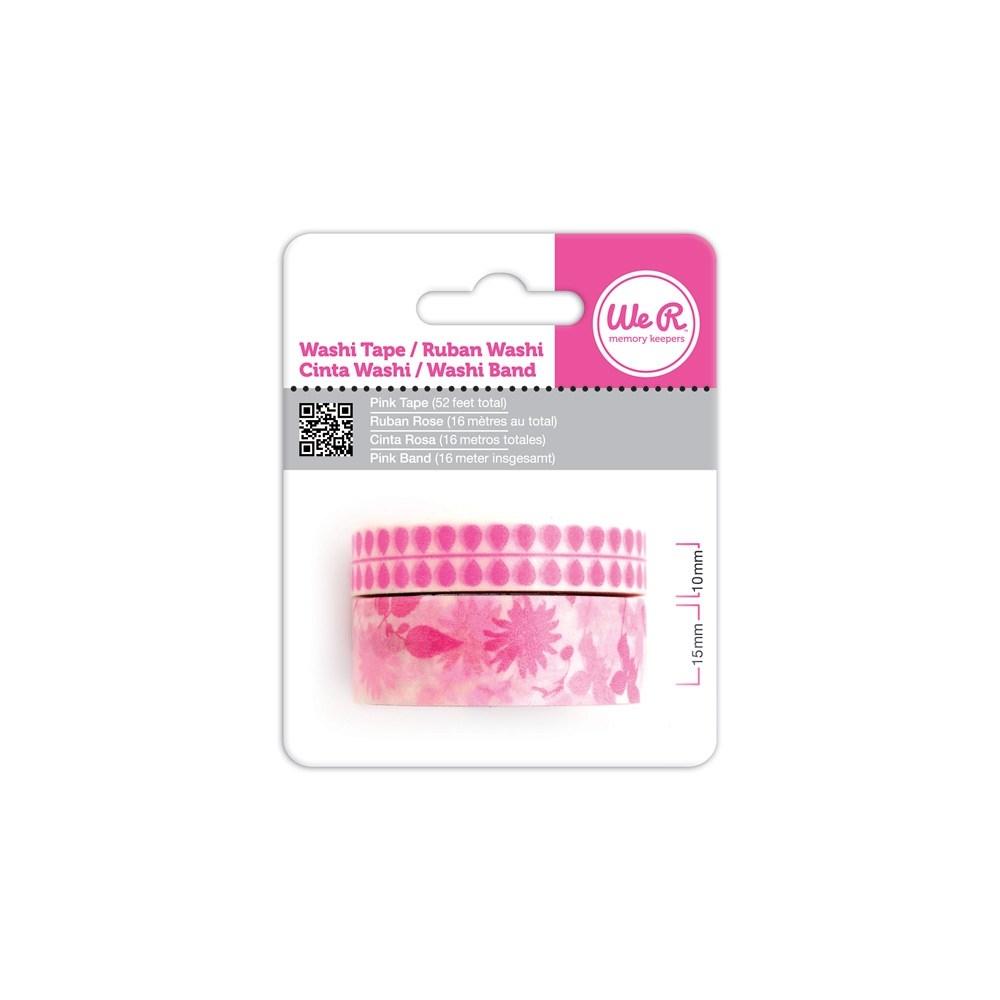 Fita Adesiva Decorativa Washi Tape WER Pink 2 Rolos 15,8 M Wrwt 421979