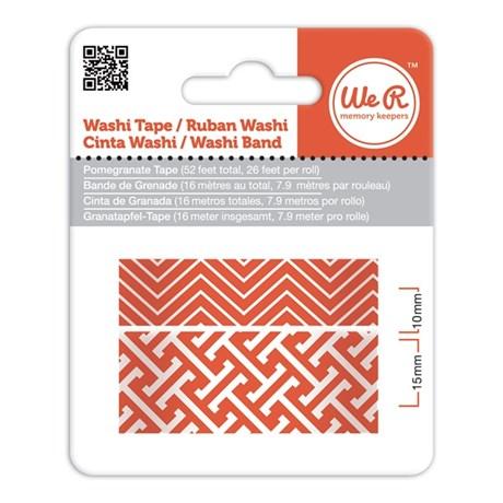 Fita Adesiva Decorativa Washi Tape WER Romã 2 Rolos 15,8 M Wrwt 424161