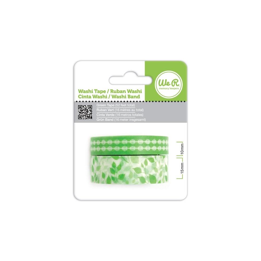 Fita Adesiva Decorativa Washi Tape WER Verde 2 Rolos 15,8 M Wrwt 422013