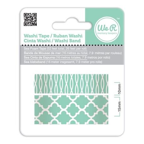 Fita Adesiva Decorativa Washi Tape WER Verde Água 2 Rolos 15,8 M Wrwt 424208
