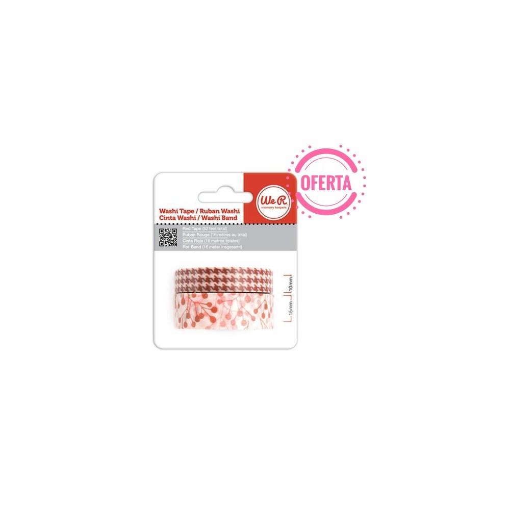 Fita Adesiva Decorativa Washi Tape WER Vermelha 2 Rolos 15,8 M Wrwt 421986