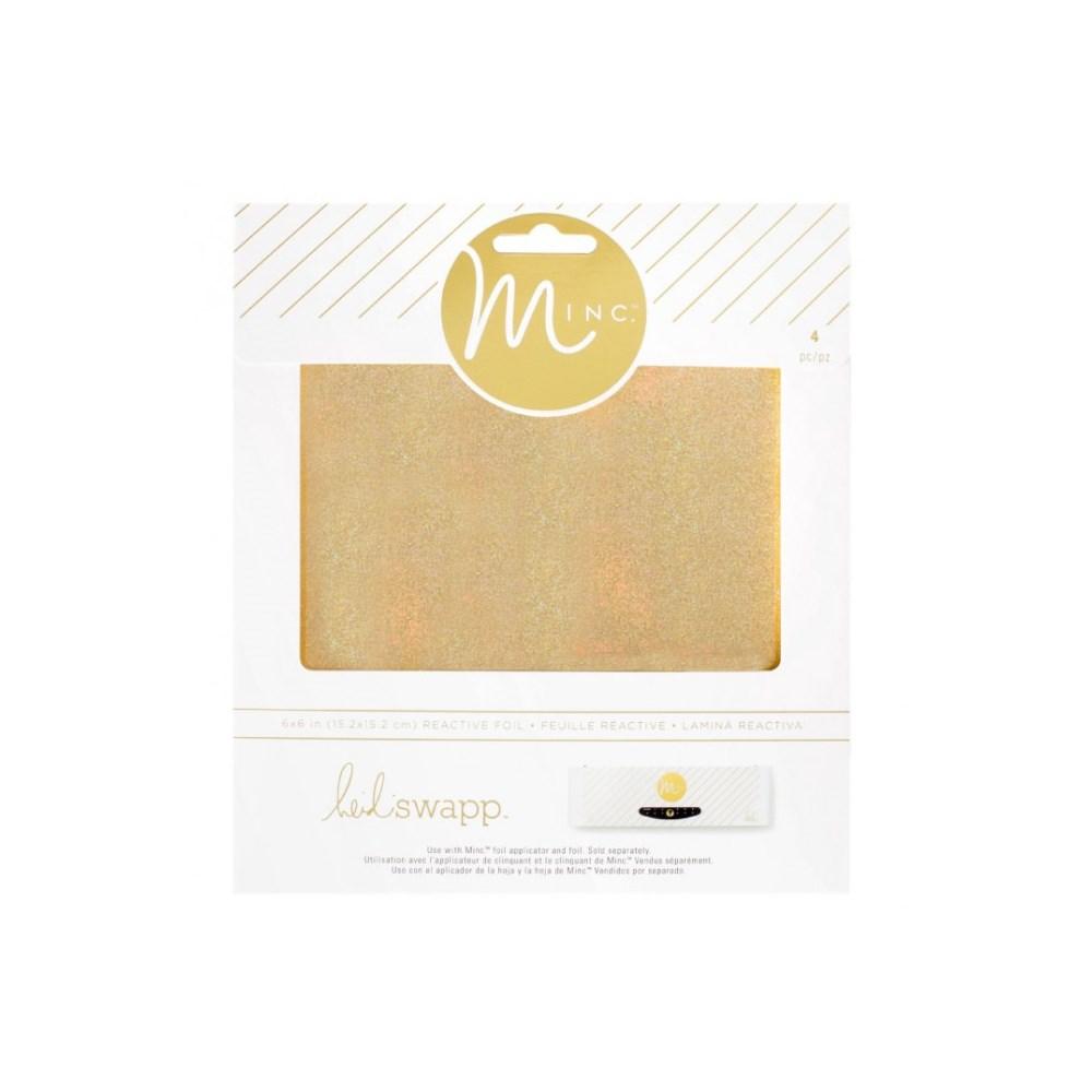 Foil Glitter Ouro Folha 15x15cm Minc
