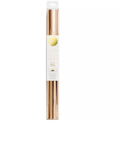 Foil Ouro Rose 30cm x 1,5m Minc