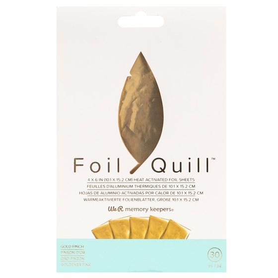 Foil Quill Ouro 10cm x 15cm pct c/ 30 Folhas