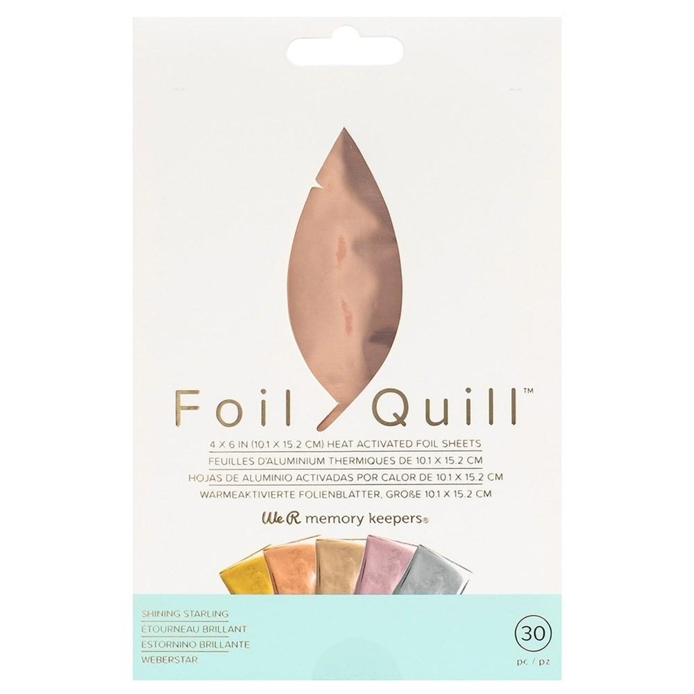 Foil Quill Shining Starling 10cm x 15cm pct c/ 30 Folhas We R