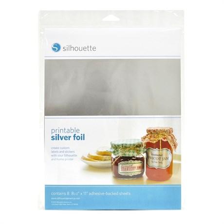 Folha Adesivada Metalizada Prata para Impressão com 8 Folhas