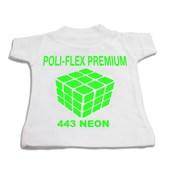 Heat Transfer Poli-Flex Premium Neon Green 441 (Verde Neon) 0,25X1M - Poli-Tape