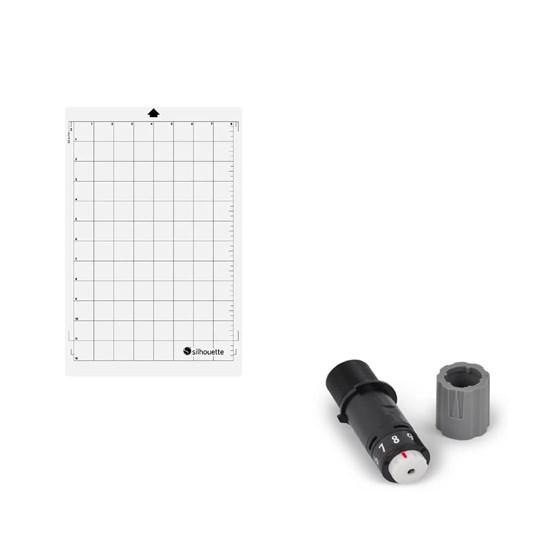 Kit Base de Recorte Portrait e Lâmina Reposição Silhouette