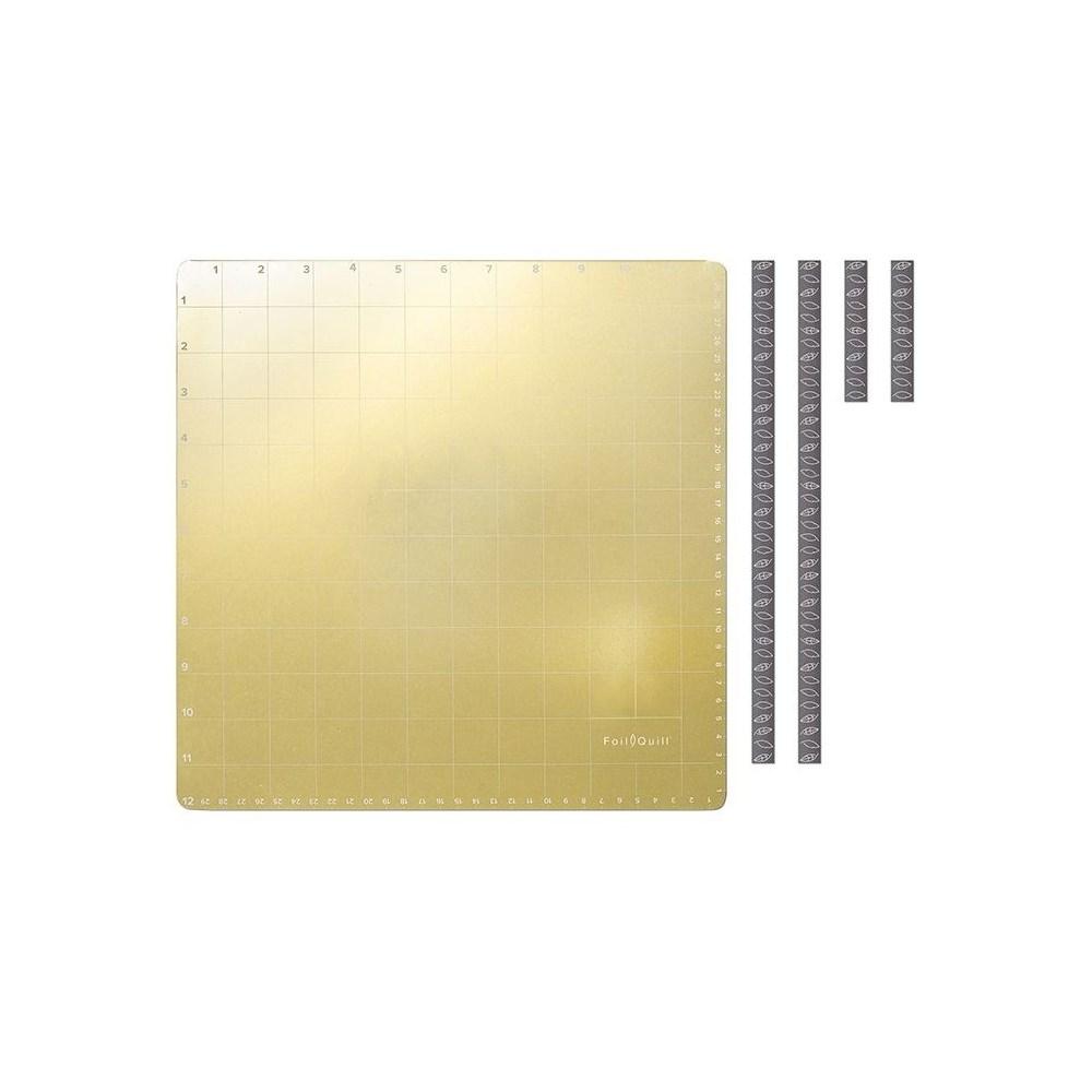 Kit Caneta Foil Quill + Base Magnética + Folhas Foil Coloridas