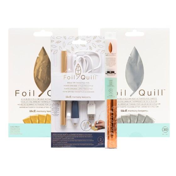 Kit Caneta Foil Quill + Foil Ouro Prata e Cobre