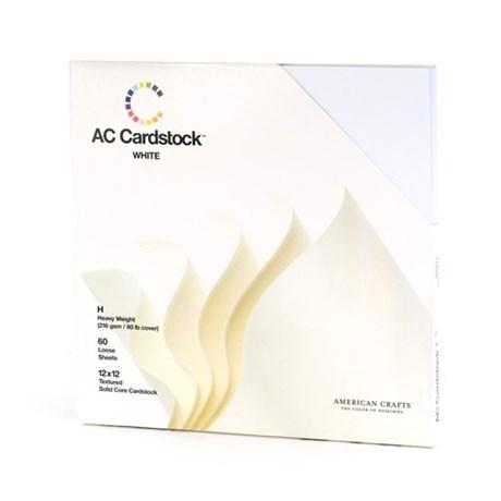 Kit De Papéis 30x30 cm Texturizados Branco Cartstock