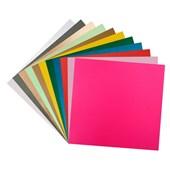 Kit de Papéis Metalizados Lisos 30 Folhas Face Única Sortidas 30x30 Papel Scrap Metallik