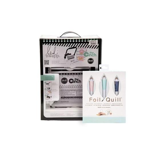 Kit Especial Encadernadora Furo Quadrado + Canetas Foil Quill
