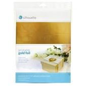 Papel Adesivo Foil Dourado para Impressão com 8 Folhas - Silhouette