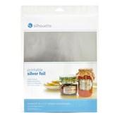 Papel Adesivo Foil Prata para Impressão com 8 Folhas - Silhouette