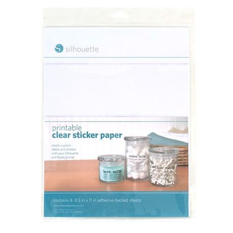 Papel Adesivo Transparente Printable Clear Sticker Paper Com 8 Folhas - Silhouette