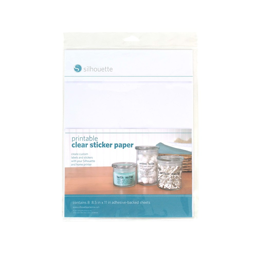 Papel Adesivo Transparente Printable Clear Sticker Paper Silhouette