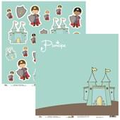 Papel Castelo E Principes 30X30 Ok Scrapbook