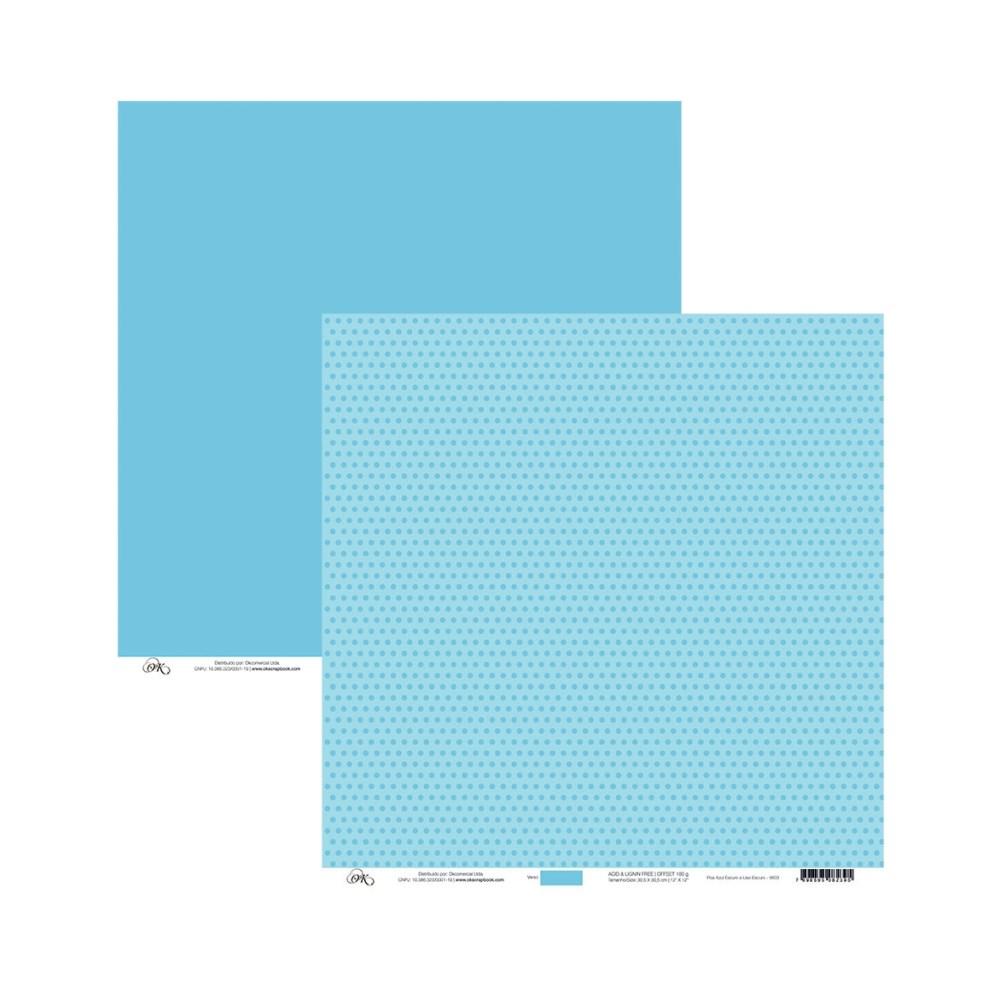Papel Com Poa Azul Escuro 30x30
