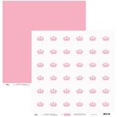 Papel de Scrap Coroas Rosa 30X30