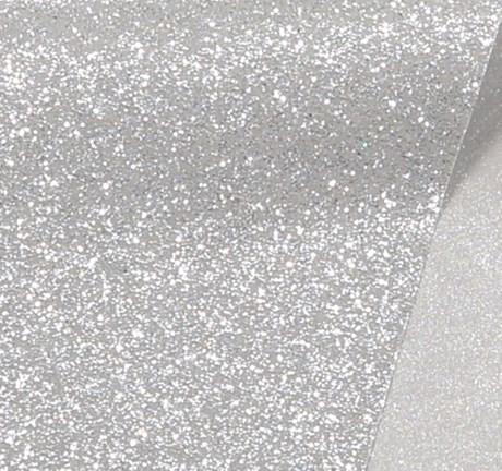 Papel de Scrap Glitter Cinza 180gr 30x30