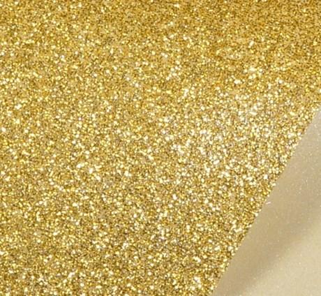 Papel de Scrap Glitter Dourado 180gr 30x30