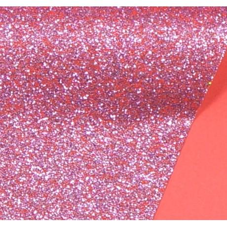 Papel de Scrap Glitter Rosa 180gr 30x30