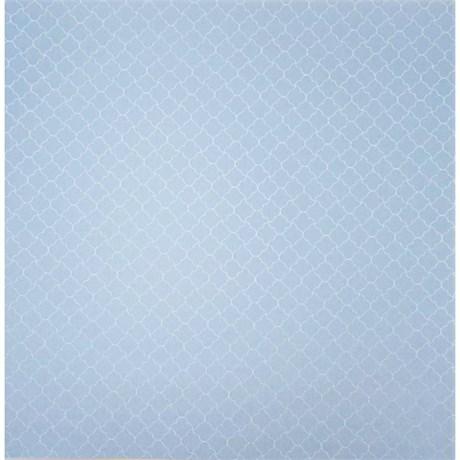 Papel de Scrap Metalizado Geo 2 Azul