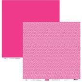 Papel de Scrap Mini Flores Pink 30x30