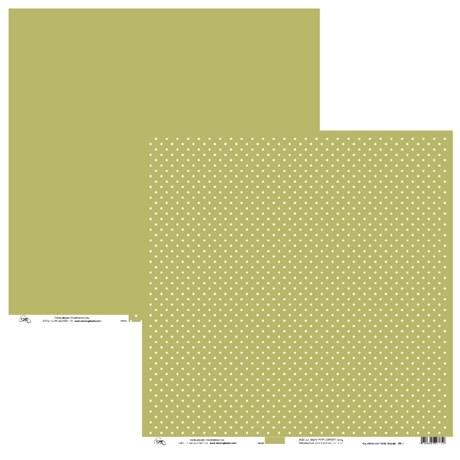 Papel de Scrap Ok Scrapbook Bolinha E Liso Amarelo Ouro 30X30cm