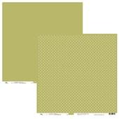 Papel de Scrap Ok Scrapbook Bolinha E Liso Verde 30X30cm