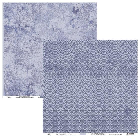 Papel de Scrap Ok Scrapbook Vintage Abstrato Azul 30X30cm