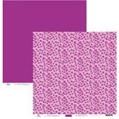 Papel de Scrap Oncinha Rosa Purpura 30x30