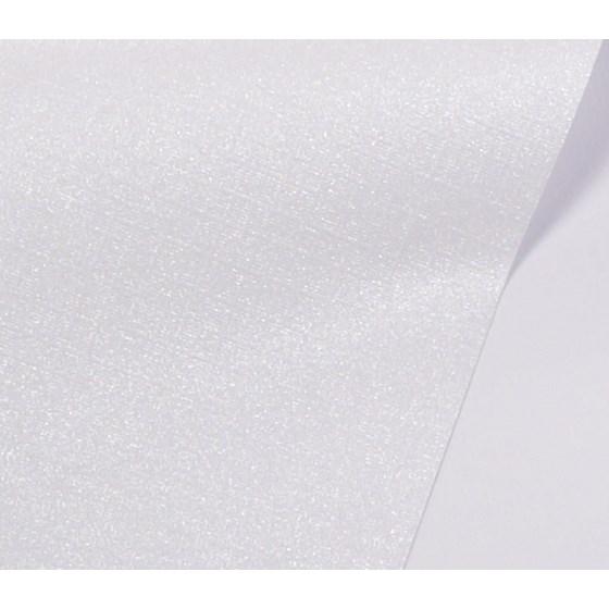 Papel de Scrap Perolizado Text Branco 180g 30x30