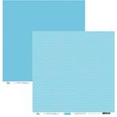 Papel de Scrap Poa Azul Escuro com Azul Azul Escuro 30x30